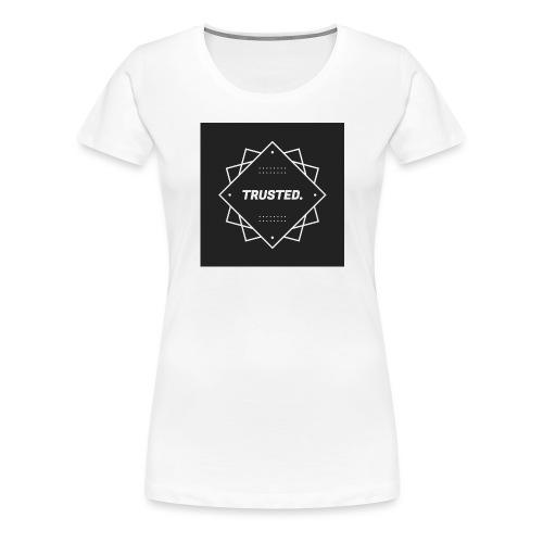 Trusted Logo - Frauen Premium T-Shirt