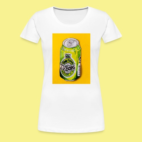 Gul Øller's - Dame premium T-shirt