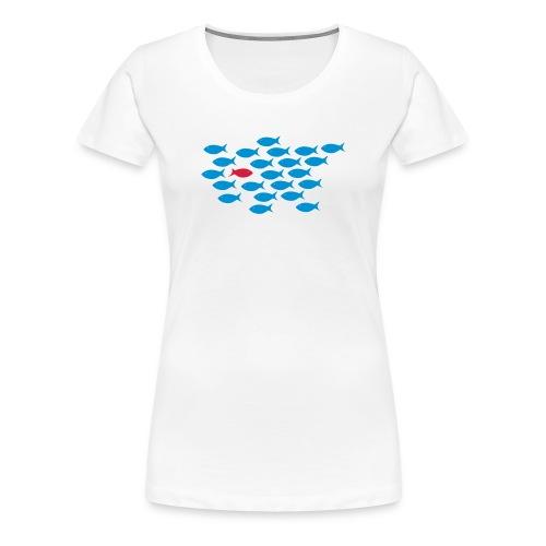 gegen den Strom - Frauen Premium T-Shirt