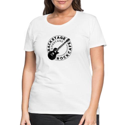 Backstage Logo einfach Schwarz - Frauen Premium T-Shirt