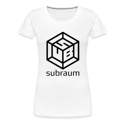 subraum schriftzug unten winzig - Frauen Premium T-Shirt