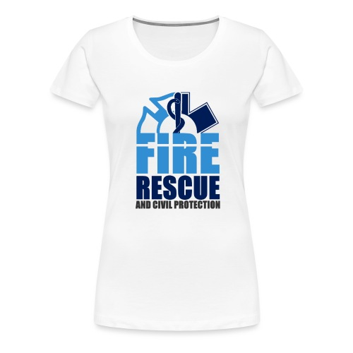 FIRE RESCUE and civil protection - Frauen Premium T-Shirt