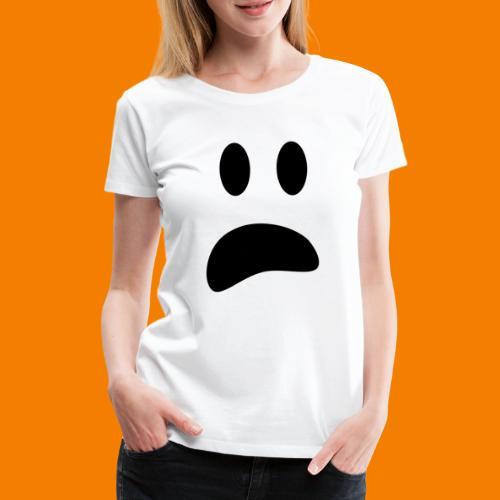 Skrämt spöke - Premium-T-shirt dam