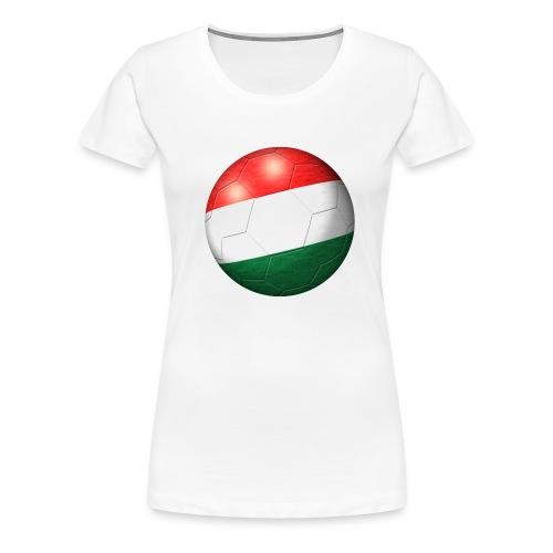 Fussball Ungarn Flagge 2 - Frauen Premium T-Shirt