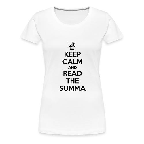 keepcalmSumma - T-shirt Premium Femme
