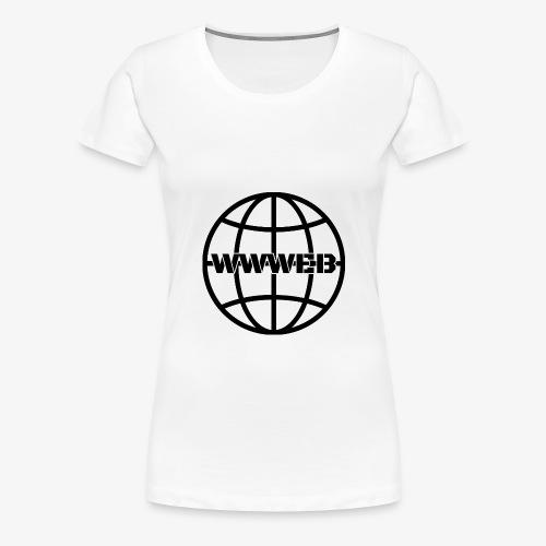WWWeb (black) - Women's Premium T-Shirt