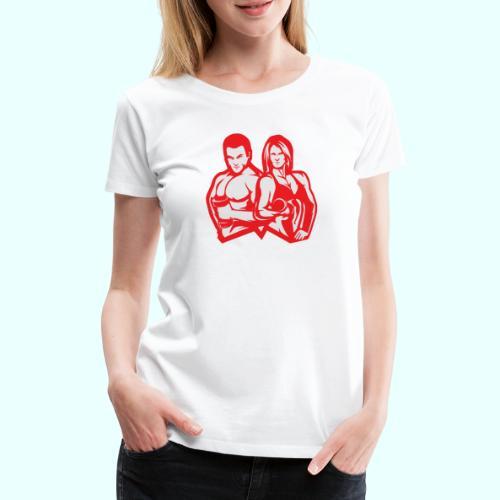 Man & woman NLB - Naisten premium t-paita