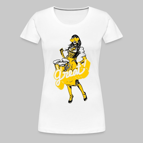 2reborn dirndl oktoberfest bier bayern herz party - Frauen Premium T-Shirt