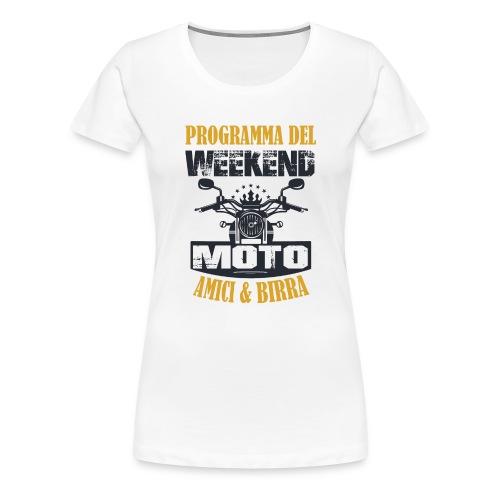 MOTO WEEKEND - Maglietta Premium da donna