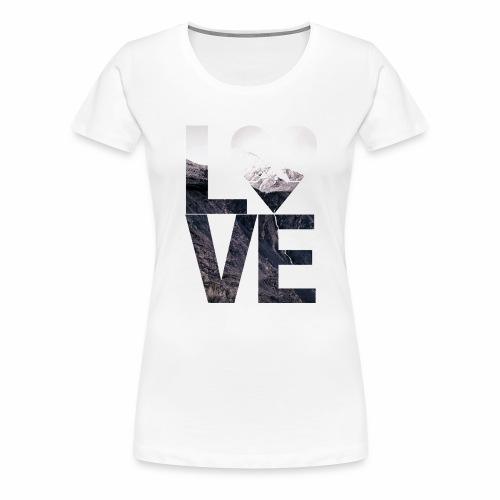L.O.V.E - Mountains - Frauen Premium T-Shirt