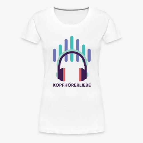 kopfhörerliebe - Frauen Premium T-Shirt