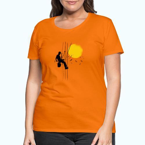 Minimal moon drawing - Women's Premium T-Shirt