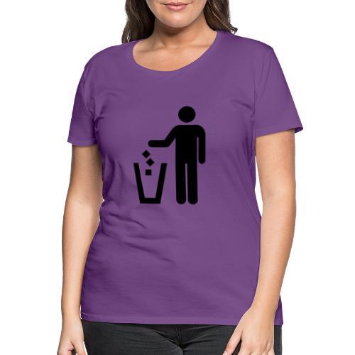 Strichmännchen Mülleimer - Frauen Premium T-Shirt