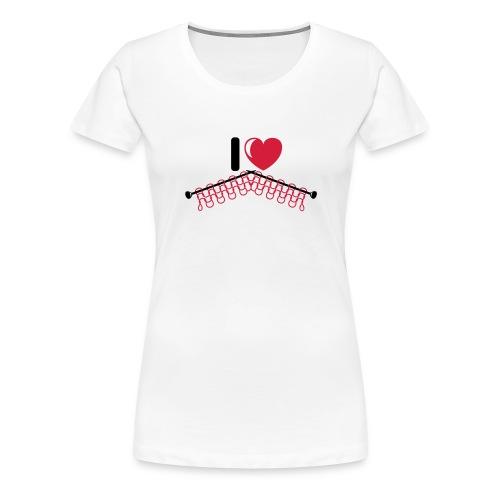 i love knitting red - Vrouwen Premium T-shirt