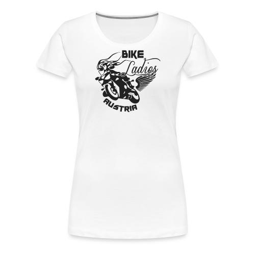 Bike Ladies Logo EINFÄRBIG SCHWARZ - Frauen Premium T-Shirt