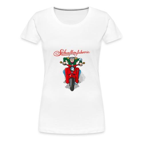 comicschwalbenfahrerinfrontal - Frauen Premium T-Shirt