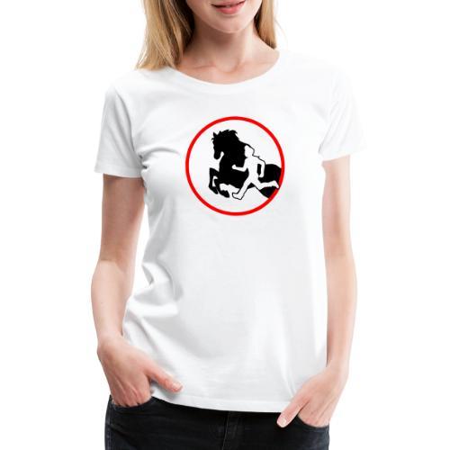 Horse Agility Logo - Frauen Premium T-Shirt