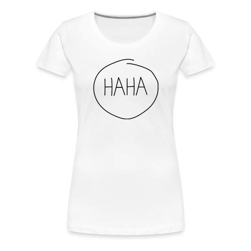 H A H A - imperfect circle - Vrouwen Premium T-shirt