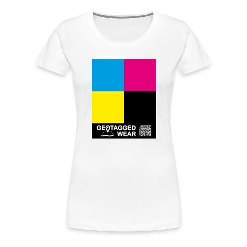 Square CMYK #1 - CMYK Collection - Frauen Premium T-Shirt
