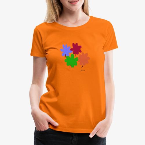 Kukat - Naisten premium t-paita