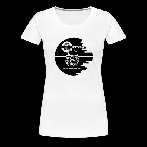 DarkSide Gaming We Want You Death Star Logo - Women's Premium T-Shirt