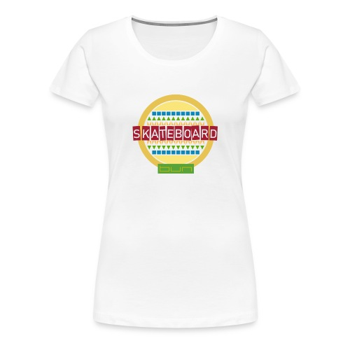 Skateboard Retro - Women's Premium T-Shirt