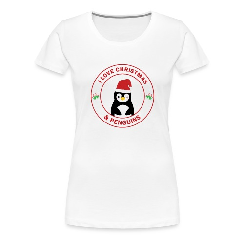Christmas Penguin - Women's Premium T-Shirt