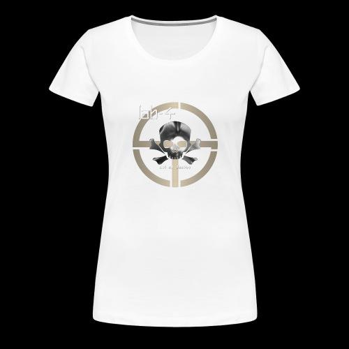 CAD Skull 9 White Text - Women's Premium T-Shirt