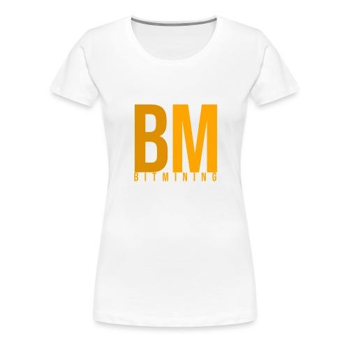 BitMining official Logo - T-shirt Premium Femme