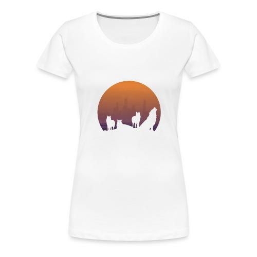Wolfsrudel - Frauen Premium T-Shirt