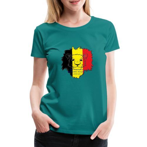 Lion supporter Belgique - T-shirt Premium Femme