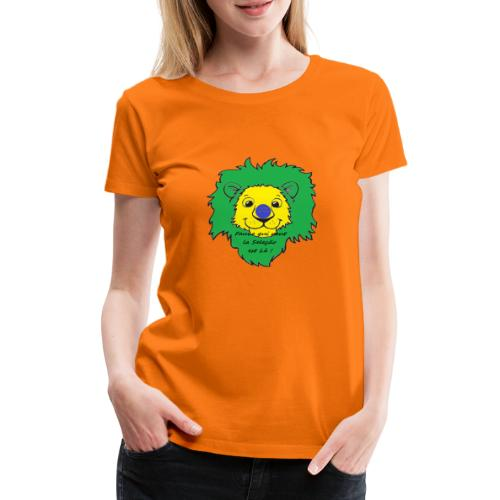 Lion supporter Brésil - T-shirt Premium Femme