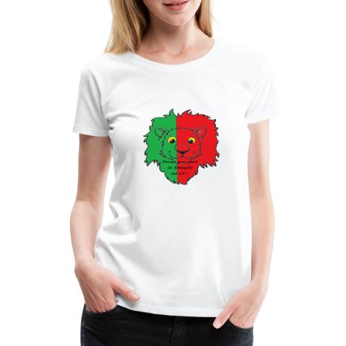 Lion supporter Portugal - T-shirt Premium Femme