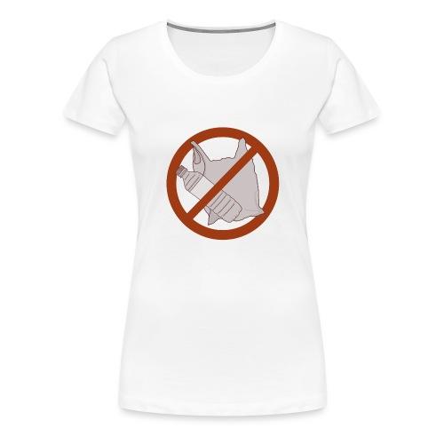 No Plastic Warnschild Umweltschutz - Frauen Premium T-Shirt