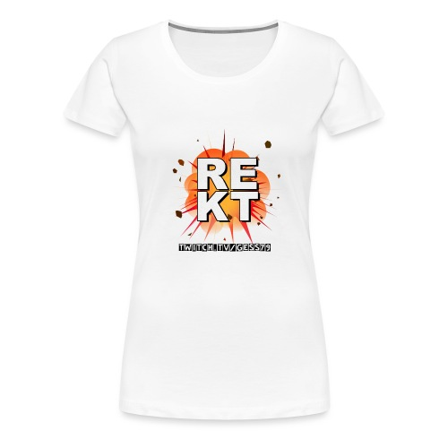 Rekt Twitch Black Font - Frauen Premium T-Shirt