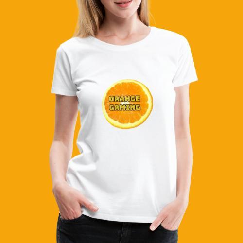 Orange_Logo_White - Women's Premium T-Shirt