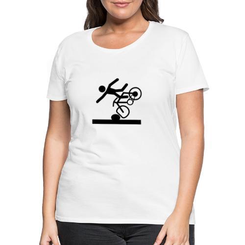 Strichmännchen Fahrradunfall - Frauen Premium T-Shirt