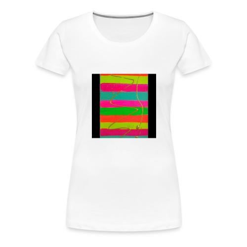 LINEAS FLUORESCENTES - Camiseta premium mujer