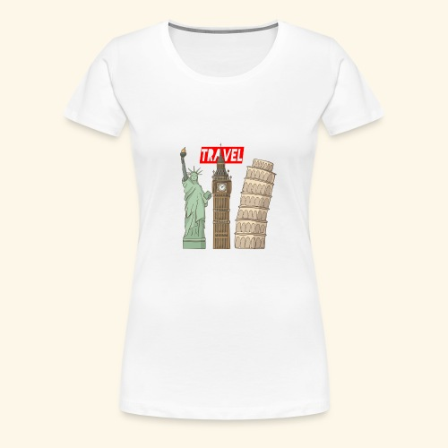 Travel New York, London, Pisa - Frauen Premium T-Shirt