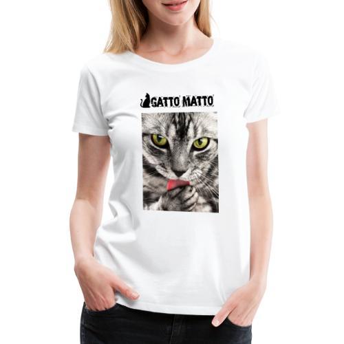 ilGattoMatto - Maglietta Premium da donna