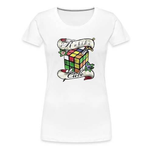 Rubik's Cube Tatoo - Women's Premium T-Shirt