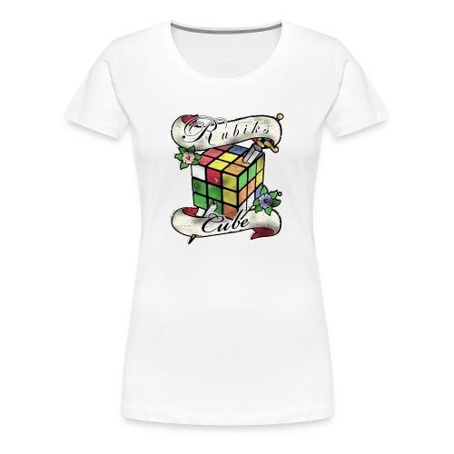 Rubik's Cube Tatoo - Dame premium T-shirt