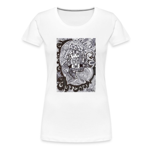 Psychedelic Ganesha - Maglietta Premium da donna