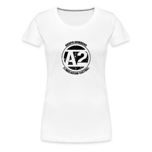 A2 Logo Envejecido - Camiseta premium mujer