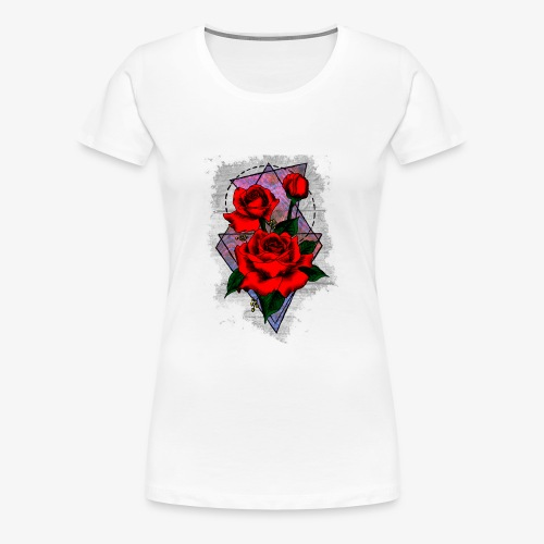 Flowers Geo - Women's Premium T-Shirt