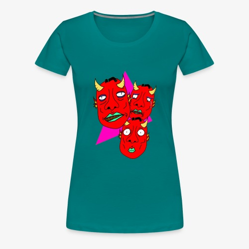 The Three Devils - Premium-T-shirt dam