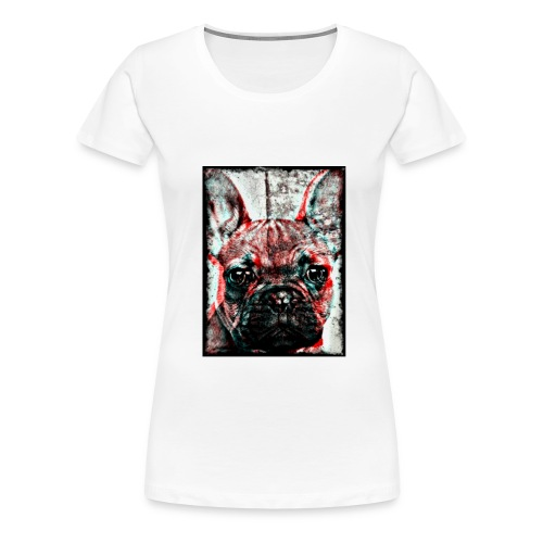 French Bulldog - Retro - Premium-T-shirt dam