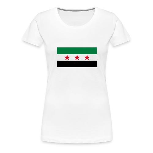 Syria Flag (pre-1963) - Women's Premium T-Shirt