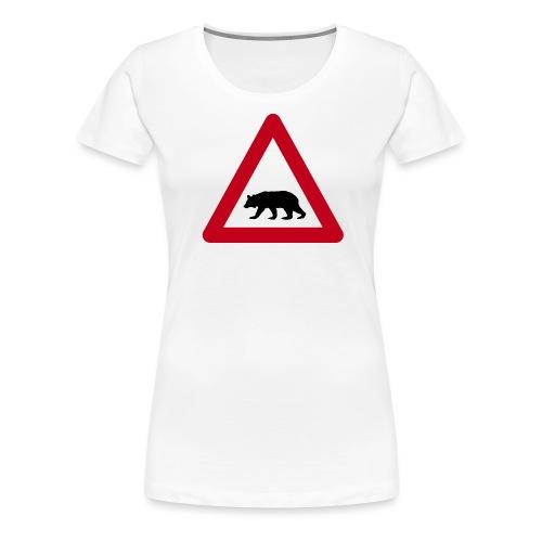 Beware of the bear sign - Women's Premium T-Shirt