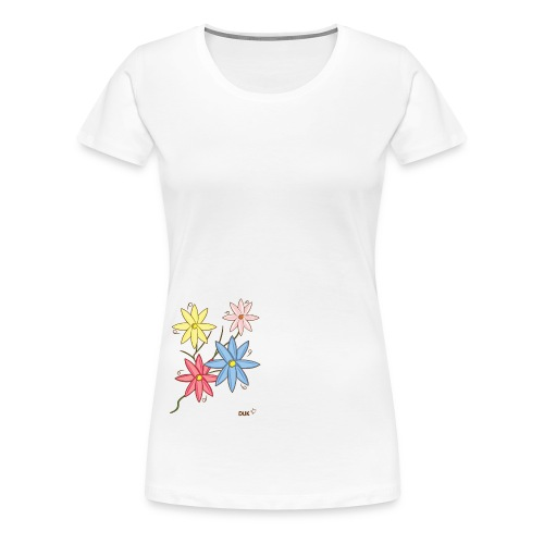 Summer Flowers - Women's Premium T-Shirt
